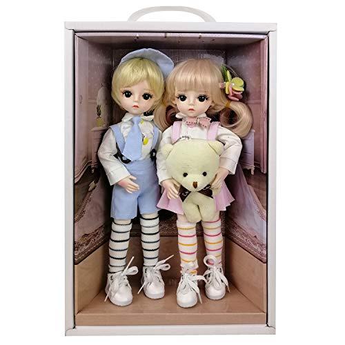 EVA BJD Linda muñeca de 12 Pulgadas 1/6 30cm, Ropa del Cuerpo de la Peluca y Zapatos incluidos,Regalo de cumpleaños, Boda (Nxnx)