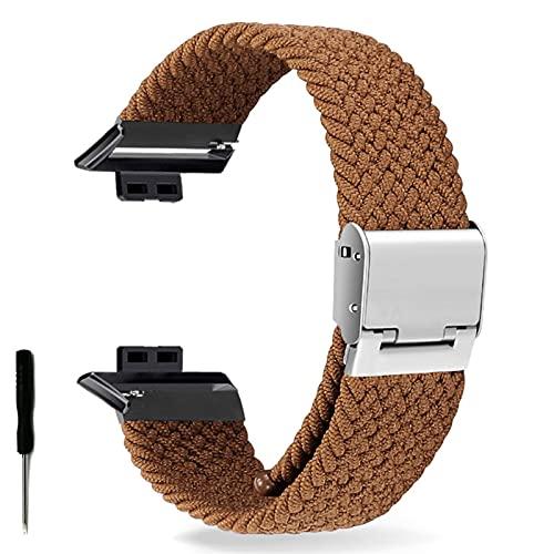Correa de Reloj para Watch FIT Correa elástica Trenzada Ajustable Correa de muñeca Correa de liberación rápida (Band Color : Brown, Band Width : Hua Fit)