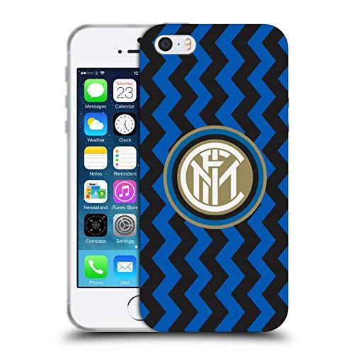 Head Case Designs Ufficiale Inter Milan in Casa 2020/21 Kit Crest Cover in Morbido Gel Compatibile con Apple iPhone 5 / iPhone 5s / iPhone SE 2016