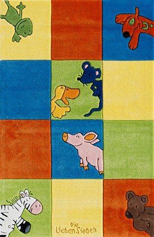 Ls-2197-01 Teppich Die Lieben Sieben - Quadrate 130x190