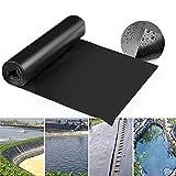GDMING Teichfolien 0.4MM Dicke Flexibel PVC Plastik Plane Zum Koi-Teiche Gartenpool Lotusteich Durchstoßfestigkeit Anti-Versickerung, 42 Größen (Color : Black, Size : 3x10m)