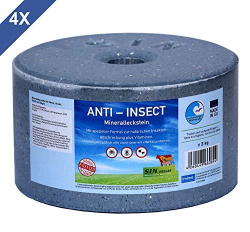 Sin Hellas Anti-Insect Mineralleckstein, Set mit 4X 3kg