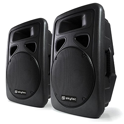 Skytec Sonido Profesional Pareja de Altavoces autoamplificados DJ...