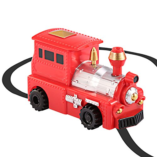 Etpark Magic Inductive Toy, Magic Inductive Car Tank Truck Toy with Marker Pen, Move Following Any Drawn Line for Pre-School Learning and Children (Red Train)