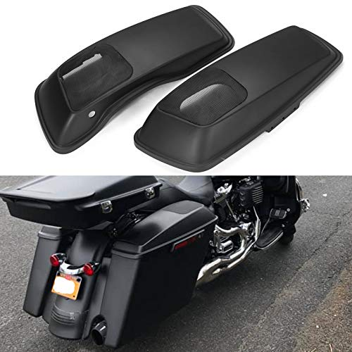 Fantastic Prices! Us Stock Advanblack Denim/Matte Black Speaker Lids 6x9 inch Saddlebag Audio Covers...