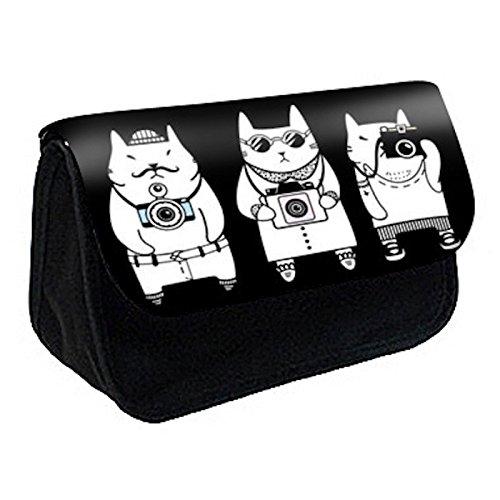 Trousse à Crayons Chats noir et blanc design réf 390