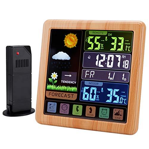 Station météo sans fil intérieur extérieur,stazione meteo con sensore esterno,℃ / ℉ Commutabile, con Sveglia Retroilluminazione LCD per casa e Ufficio,A