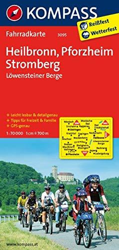 KOMPASS Fahrradkarte Heilbronn - Pforzheim - Stromberg - Löwensteiner Berge: Fahrradkarte. GPS-genau. 1:70000 (KOMPASS-Fahrradkarten Deutschland, Band 3095)