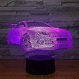 Luz de noche 3D luz nocturna Lámparas de noche 3D Iluminaciones de escritorio Control remoto del automóvil Toque Creativo Niños s Regalos de cumpleaños Accesorios Niños