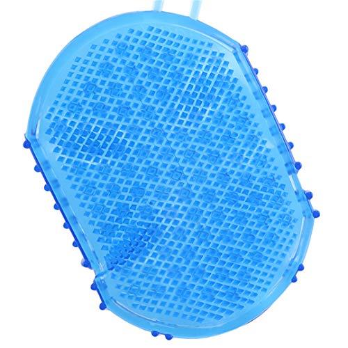 Weryffe Silikon-Massage-Handschuh Anti Cellulite-Körper-Massage-Bürsten-Frauen, die Massage-Auflage für Entspannung baden (blau)