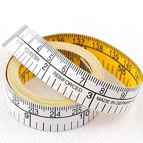 LUCHAO 1,5 m Doble Regla de la Escala Suaves Cinta métrica Flexible gobernantes Cuerpo de Costura a Medida de Tela Regla Accesorios de Costura