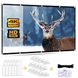 Outry Projector Screen 120 inch 16:9, Foldable Projection Screen for Home Theater Cinema Outdoor Sport Event,...