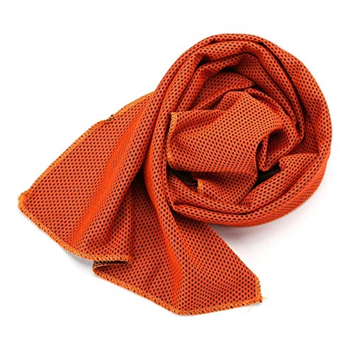 Mdsfe sporthanddoek voor camping, jogger, camping, camping, sneldrogend, microvezel, 30 x 90 cm, oranje, A7