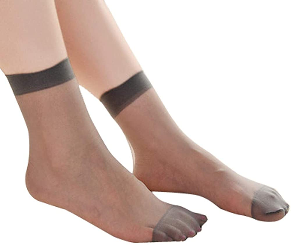 Girls High Elastic 10 Pairs Ankle Sock Compression Silky Short Silk Stockings 9L