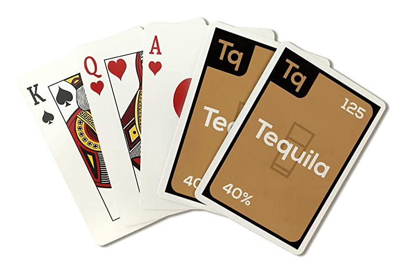 Periodic Drinks - Tequila (Playing Card Deck - 52 Card Poker Size with Jokers)