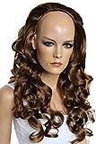 Prettyshop - Mezza parrucca con capelli mossi in fibra sintetica, capelli che sembrano veri, lunghezza 65 cmpersonalizzabile