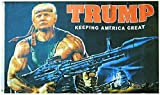American Wholesale Superstore Trump Rambo Bazooka Keeping America Great 100D 3x5 3'x5' Flag Banner