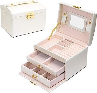 Scatola di Gioielli Set Scatola Porta Gioielli Beauty Case di immagazzinaggio di immagazzinaggio di cosmetico a Tre Strati...