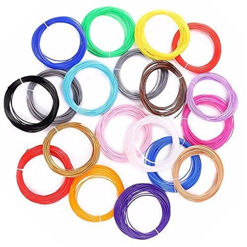 WOL 3D (20 In 1) 20- Pcs * 5M Each Pla 3D Pen Filament Pack