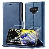 xinyunew Schutzhülle für Samsung Galaxy Note 9 Hülle, Leder Flip Wallet Schutzhülle, Magnetverschluss Leder Flip Schutzhülle Lederhülle für Samsung Galaxy Note 9 Hülle (Blau)
