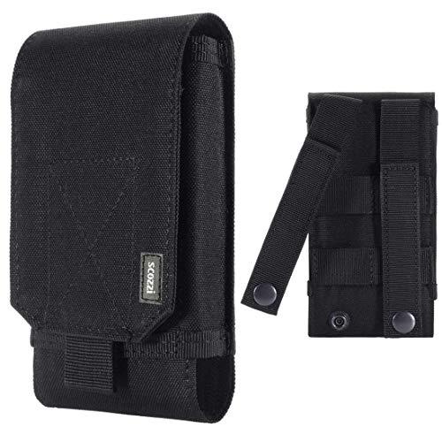 scozzi Handy Gürteltasche Gürtel Tasche Handytasche Handyhalterung Halterung universal (kompatibel mit Samsung,iPhone,Huawei) S21 S20 S10 S9 A71 A51 M51 P40 P30 12 11 X XS XR Plus Ultra Lite Mini Pro