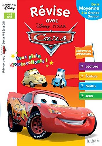 Révise avec Cars De la MS à la GS - Cahier de vacances