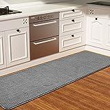 Color&Geometry Alfombra de Cocina 44x200cm.Alfombra Cocina Lavable Antideslizante,Alfombrilla Cocina,alfombras para Cocina,Pasillo,Entrada,Alfombra de Comedor.(Gris)
