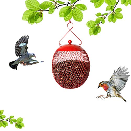 Sasaly 4PCS Courtyard Bird Feeder Garden Villa Squirrel Hanging Wild Bird Feeders Metal Birdfeeder For Outdoor House Garden Yard Decoration(AA,4pcs)