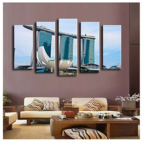 wzgsffs Pool Casino Singapur wandmalerei für wohnkultur ölgemälde wandkunstdruck leinwand, wandbild, 40x60 40x80 40x100 cm Kein Rahmen