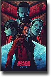 Blade Runner 2049 Poster Movie Promo 11 x 17 inches Sketch Red Blue