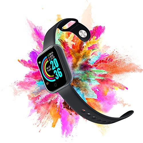 Monitores de Actividad, Reloj Inteligente con Monitor de presión Arterial de frecuencia Cardiaca, Reloj Inteligente Monitor de Actividad con Monitor de sueño, Compatible con iOS Android