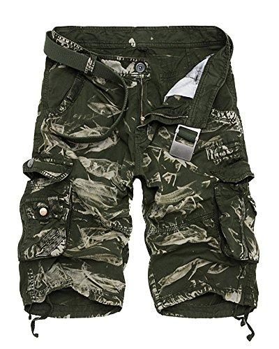 Quge Hombres Militar Laboral Pantalones Cortos Leisure Casual Camuflaje Bermudas Cargo Shorts