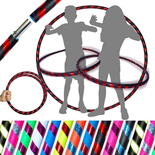 Pro Hula Hoops Fitness Adulte Voyage Hula Hoop, Pour Aerobic et Hoop Danse (100cm/25mm) 640g