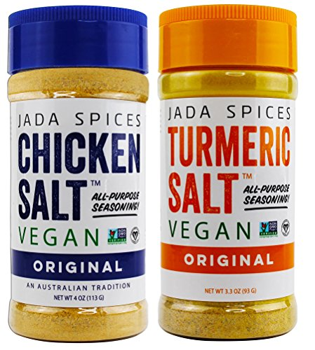 JADA Spices Chicken Salt Spice and Seasoning - Original, Turmeric Salt - Vegan, Keto & Paleo Friendly - Perfect for Cooking, BBQ, Grilling, Rubs, Popcorn and more - Preservative & Additive Free