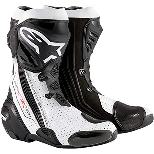 Alpinestars–Botas Moto–Alpinestars SUPERTECH R Negro Blanco Vented–41