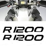 2X R1200 for BMW Motorrad R 1200 GS ADESIVI Pegatina Stickers AUTOCOLLANT AUFKLEBER VINIL Motorcycle r1200gs (Black)
