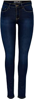Only 15077791/SKINNY SOFT ULTIMATE 205 - Vaqueros Mujer, Azul (Dark Blue Denim)
