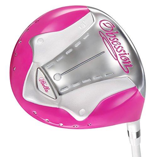I-bella obsesión para diestros driver de titanio para mujer 13 degree rosa head, blanco ibella de palo rosa, blanco y rosa...