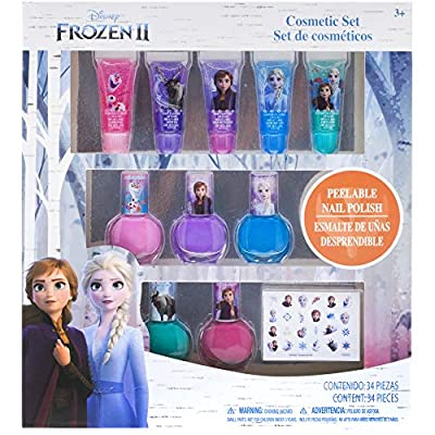 Townley Girl Disney Frozen 2 Super Sparkly Cosmetic Set with Lip Gloss, Nail Polish and Nail Stickers - 11 Pack by Townley Girl