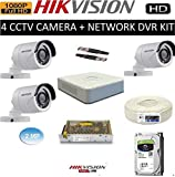 HIKVISION Full HD 2MP Cameras Combo KIT 4CH HD DVR+ 3 Bullet Cameras