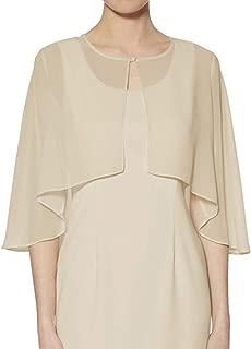 Chiffon Shrug Wraps for Evening Bridal Party Plus Size Soft Open Front Back Capes Cloaks