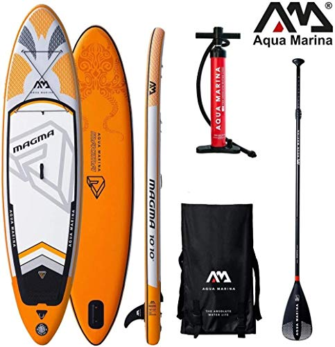 Woodtree Magma 2019 Sup - Surfboard (Gonflable) Couleur: Carbon Remo Board + (Color : Board+SportIII Paddle)
