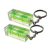 RK Gifts Mini Spirit Level Keyring Keychain Tool DIY Gadget Novelty gift (Mini spirit level (2 pack))