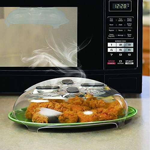Microwave Hover Anti-Sputtering Cover New Food Splatter Guard Microwave Splatter Lid with Steam Vents 11.5 Inch