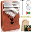 Vibola Solid African Wood 17 Key Kalimba Thumb Piano
