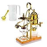 Noble Createaprototype Fabricante de café Siphon, Fabricante de café de vacío Manual removible de Acero Inoxidable Filtro de Vidrio hermético Cebera de café Máquina de la cápsula de café