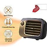 DASGF Portable Mini Radiateur Soufflant, 500W, PTC Céramique Électrique ÉLEC,...