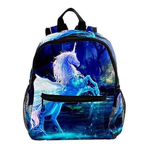 Mochilas Escolares Juveniles Caballo de Unicornio de fantasía Ligera Mochila Infantil Escolar Ergonómico Animal para Niños 25.4x10x30 CM