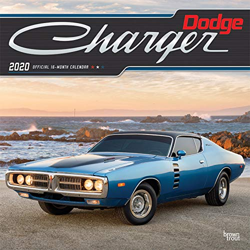 Dodge Charger 2020 12 x 12 Inch Monthly Square Wall Calendar with Foil Stamped Cover, American Muscle Motor Car