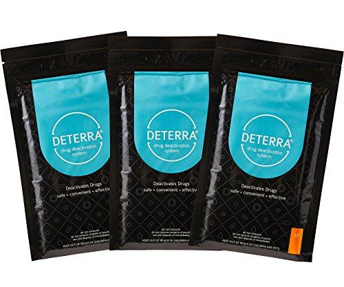 Deterra LP Drogendeaktivierungs- und Entsorgungssystem, große Tasche, 3 Stück